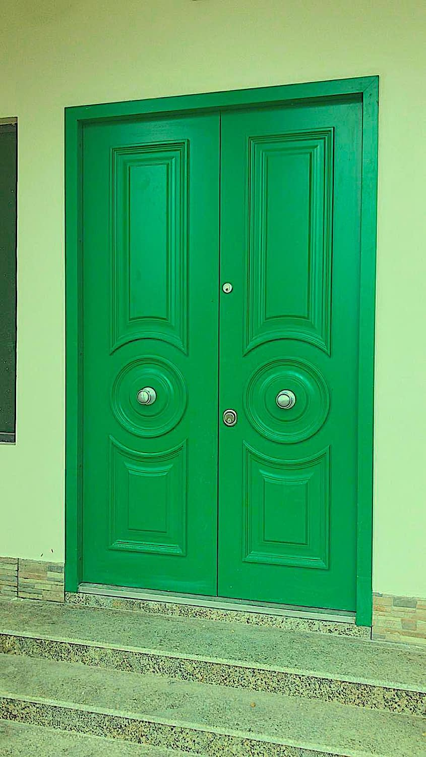 green security doors (old school)