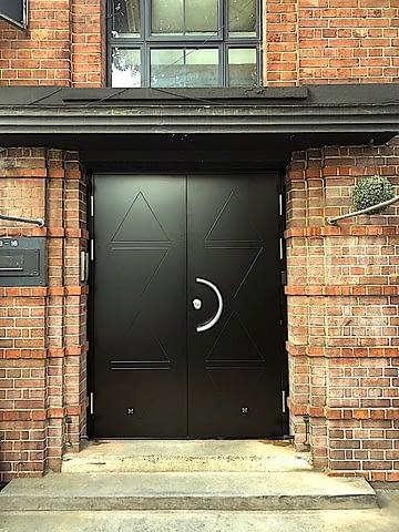 double leaf high security door