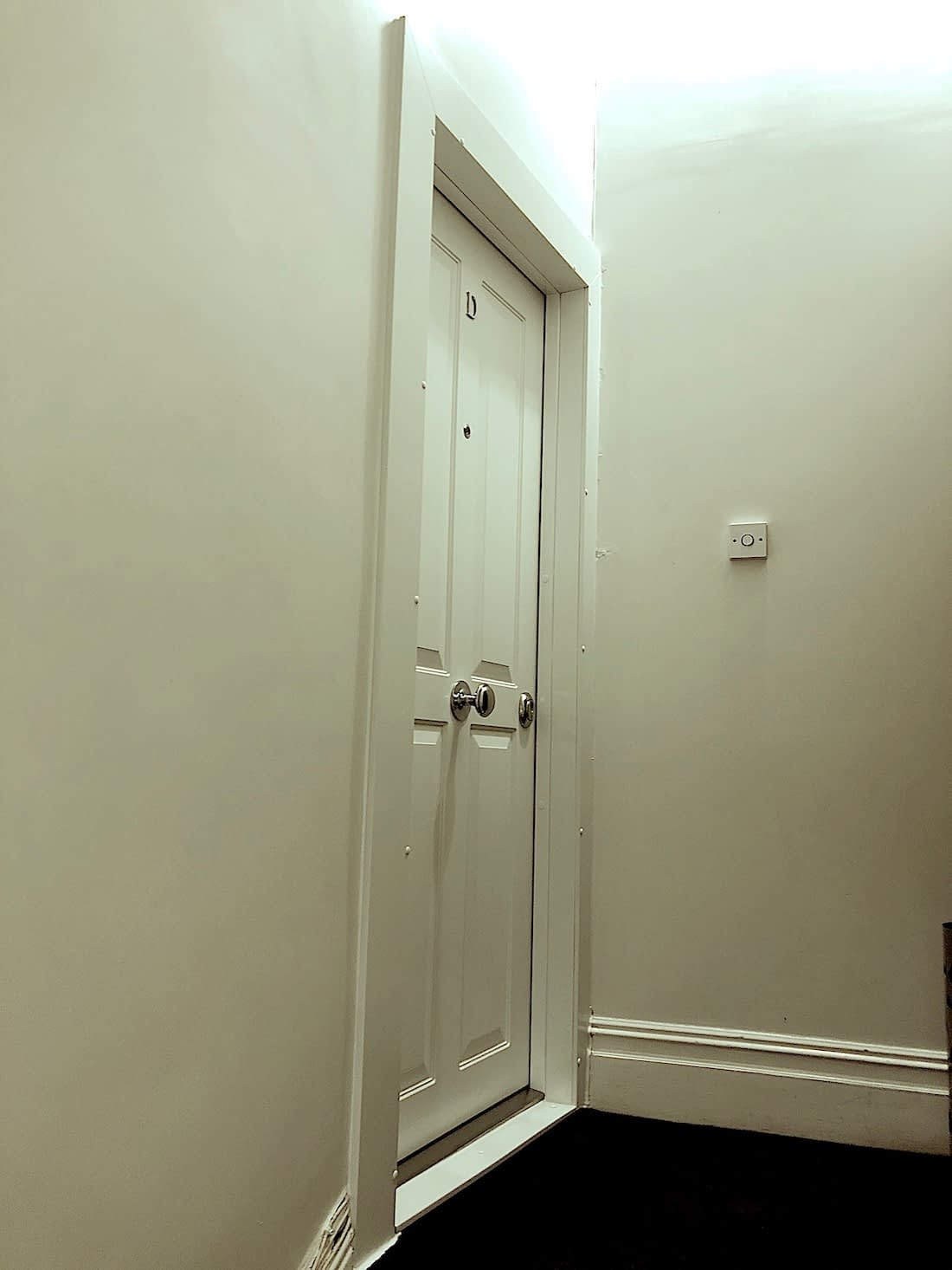 Security doors in a house