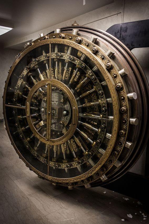 ancient bank security doors