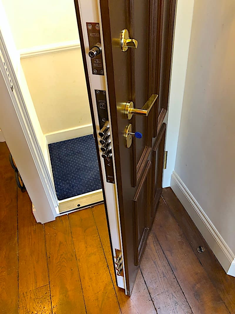 security doors with strong locks