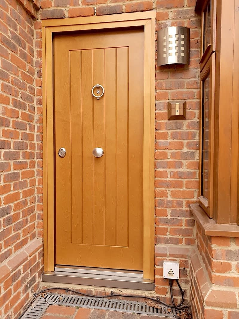 wooden security doors