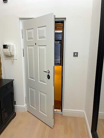 pure white security door