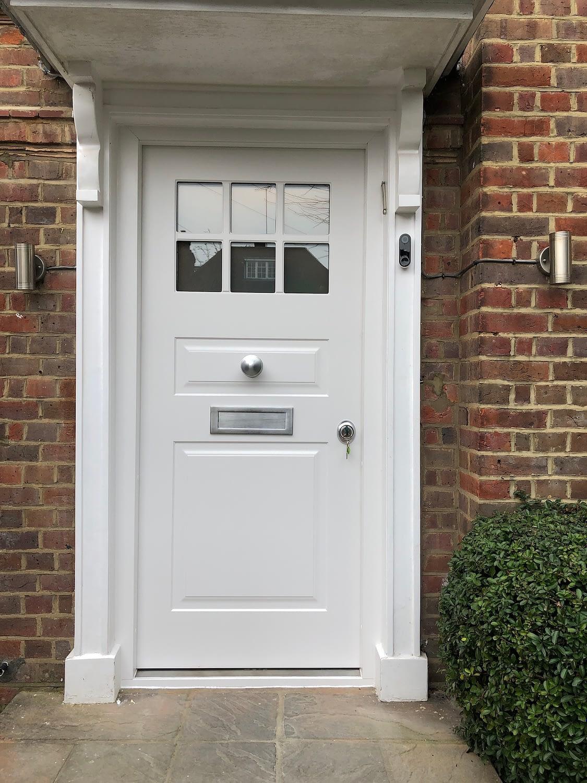 white security doors